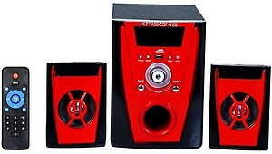 KRISONS (POLO) 2.1 MULTIMEDIA SPEAKER FOR HOME/ THEATRE USE Mobile/Tablet Speaker  (Black, 2.1 Channel) price in India.