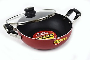 Black Diamond Non Stick Deep Kadhai (K10) - 4 Liter in 270 Mm Dia with Ss Lid - 4 Mm Thickness ?Çô Heaviest in The Industry price in India.