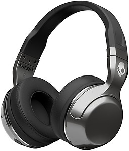 Skullcandy Hesh 2 Bluetooth Headset with Mic  (Silver Black, Over the Ear) price in India.