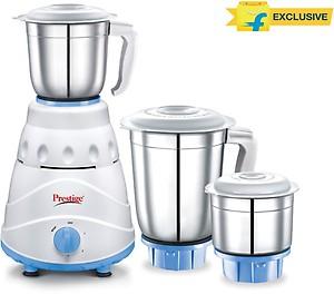 Prestige Atlas 550 W Mixer Grinder(white and Blue, 3 Jars) price in India.
