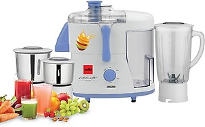 Cello JMG-200 500-Watt Juicer Mixer Grinder with 3 Jars (Blue and White) price in India.
