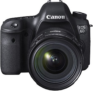 Canon EOS 6D Mark II 26.2MP Digital SLR Camera with EF24-105 mm f/4L is II USM Lens price in India.