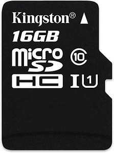 Kingston MicroSDHC 16 GB MicroSD Card Class 4 4 MB/s  Memory Card price in India.