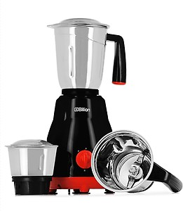 Billion Big Jar MG101 550 W Mixer Grinder  (Black, 3 Jars) price in India.
