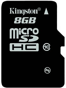 Kingston 8 GB SDHC Class 4 4 MB/s  Memory Card price in India.