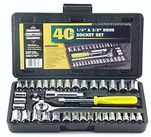 Generic Socket Tool Kit (Silver, 40 Pieces) price in India.