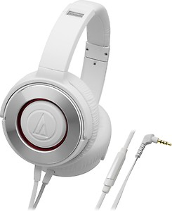 Audio-Technica Solid Bass ATH-WS550iS Headphones with Mic (White) price in India.