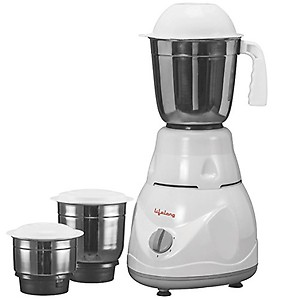 Lifelong Power Pro 500-Watt Mixer Grinder with 3 Jars (White/Grey) price in India.