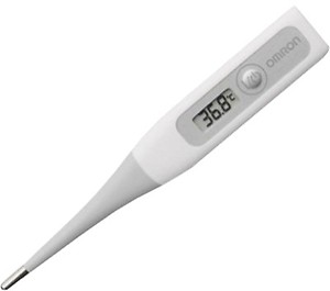 Omron MC 343 Flexible Tip Digital Thermometer With Quick Measurement of Oral, Underarm Temperature in Celsius & Fahrenheit, Water Resistant for Easy Cleaning price in India.