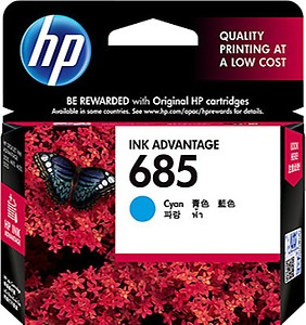 HP 685 Ink Cartridge - Cyan price in India.