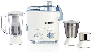 Philips 1632 HL 500 W Juicer Mixer Grinder  (White & Blue, 3 Jars) price in India.