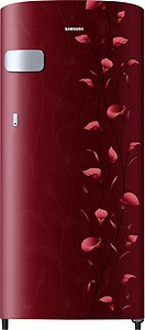 Samsung 192 L 2 Star Direct Cool Single Door Refrigerator(RR19N1Y12RZ/HL / RR19R2Y12RZ/NL, Tender Lily Red) price in India.