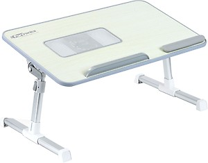 Portronics Wood Portable Laptop Table  (Finish Color - White) price in India.