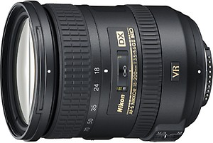 Nikon AF-S DX NIKKOR 18 - 200 mm f/3.5-5.6G ED VR II Lens  (Black) price in India.