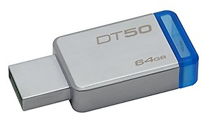 Kingston DataTraveler 50 64GB USB 3.0 Flash Drive (DT50/64GB) price in India.