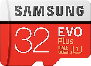 Samsung 32GB EVO Plus Class 10 Micro SDHC with Adapter (MB-MC32GA/EU) Read:up to 95MB/s price in India.