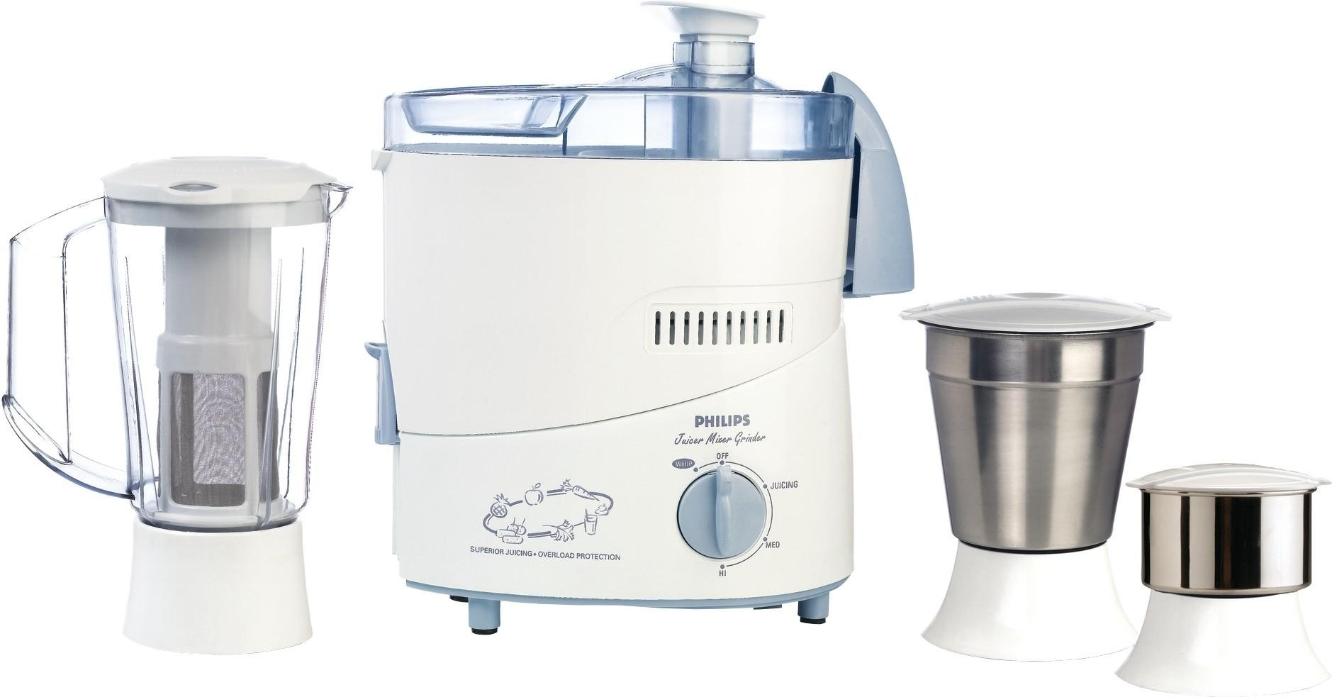 5894c63bd Philips Juicer Mixer Grinder 3 jar 500W Blue With Extra Jar hl1632 00 Price  In India