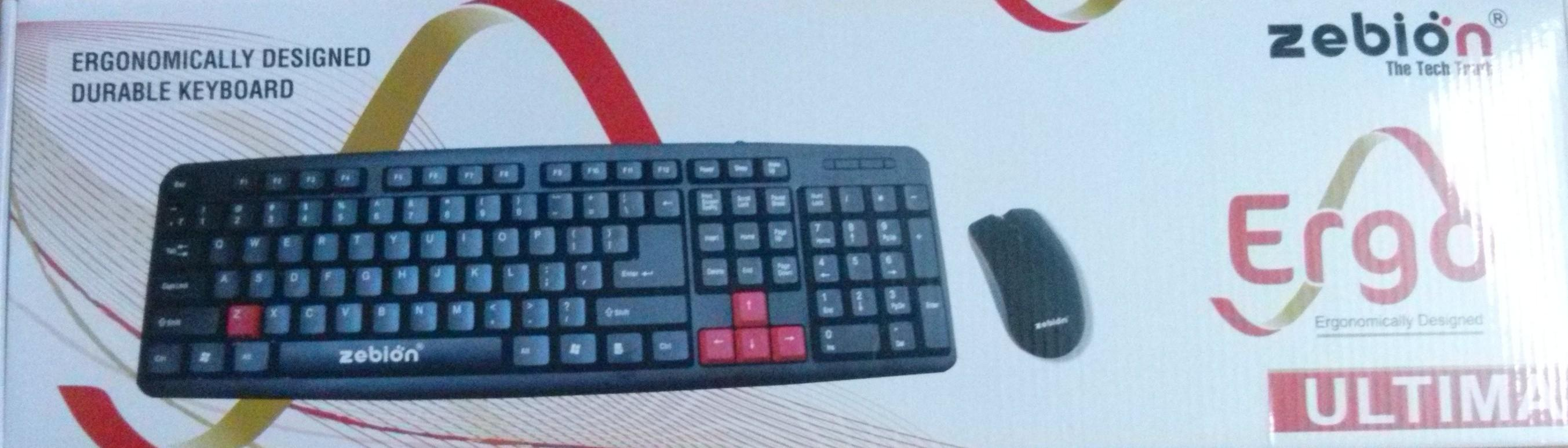 Zebion Ergo Ultima Wired USB Keyboard & Mouse Combo Price In ...